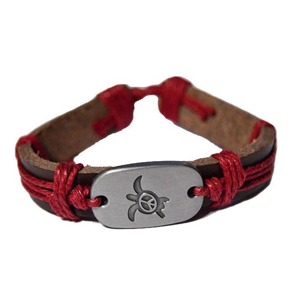 Bracelet Blue Peace for Turtles Vegan Leather
