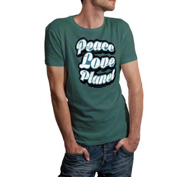 Mens' Retro Peace Love Planet Tee