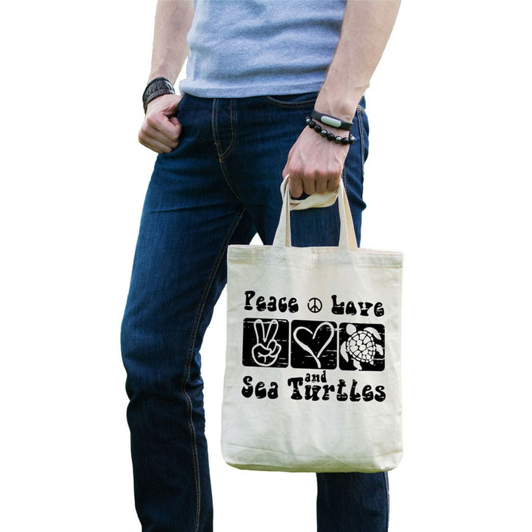 Peace Love and Sea Turtles Tote