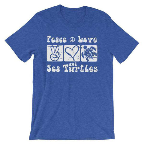 Peace Love and Sea Turtles Unisex Tee
