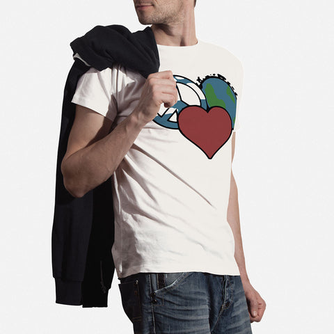 Peace Love Planet Mens Tee