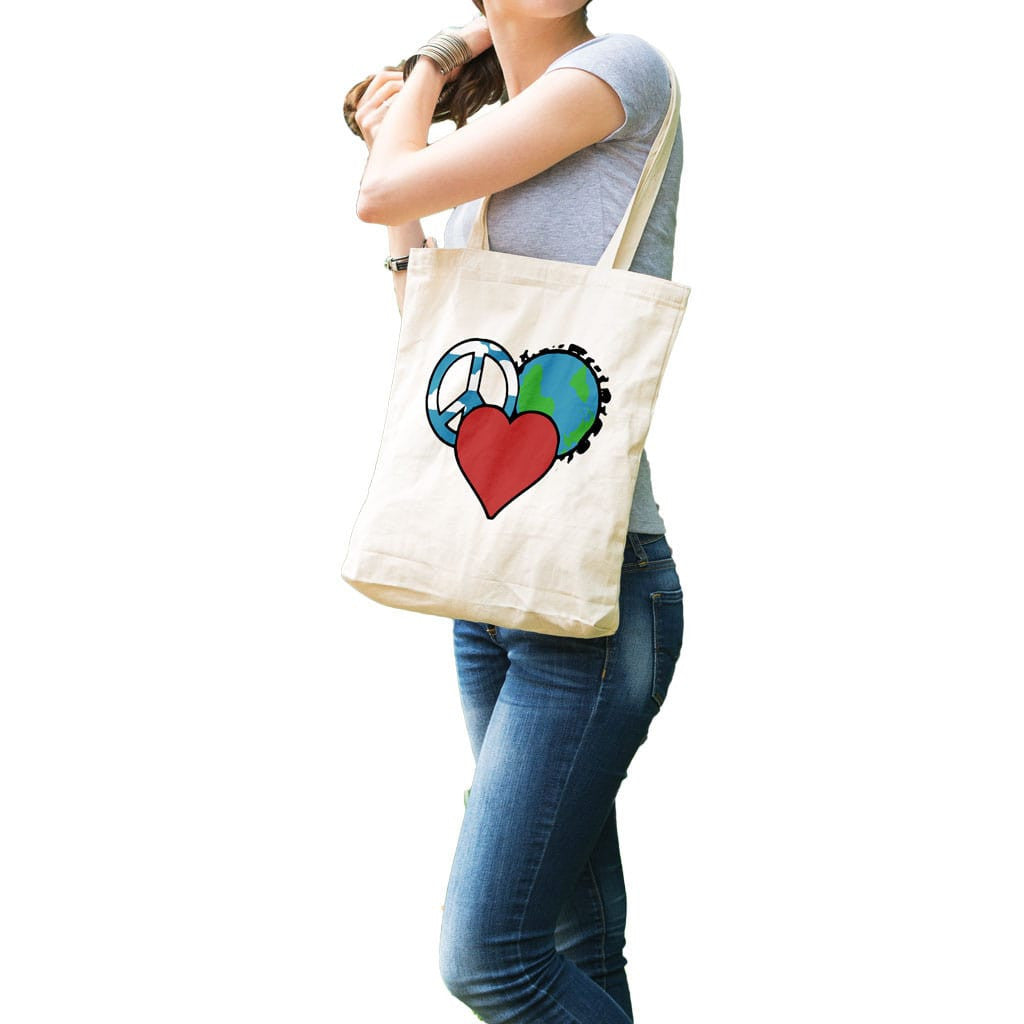 Peace Love Planet Tote