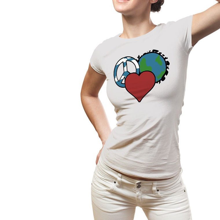 Peace Love Planet Womens Tee