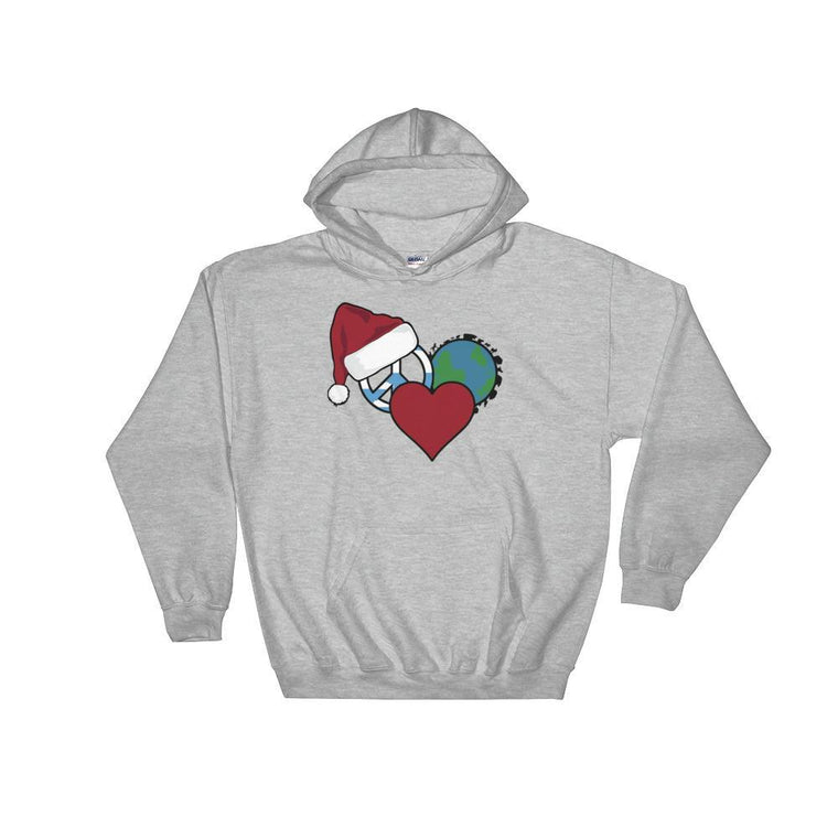 White / S Holiday Logo Hooded Sweatshirt