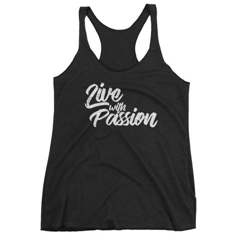 Vintage Black / XS Live with Passion Womens Tank