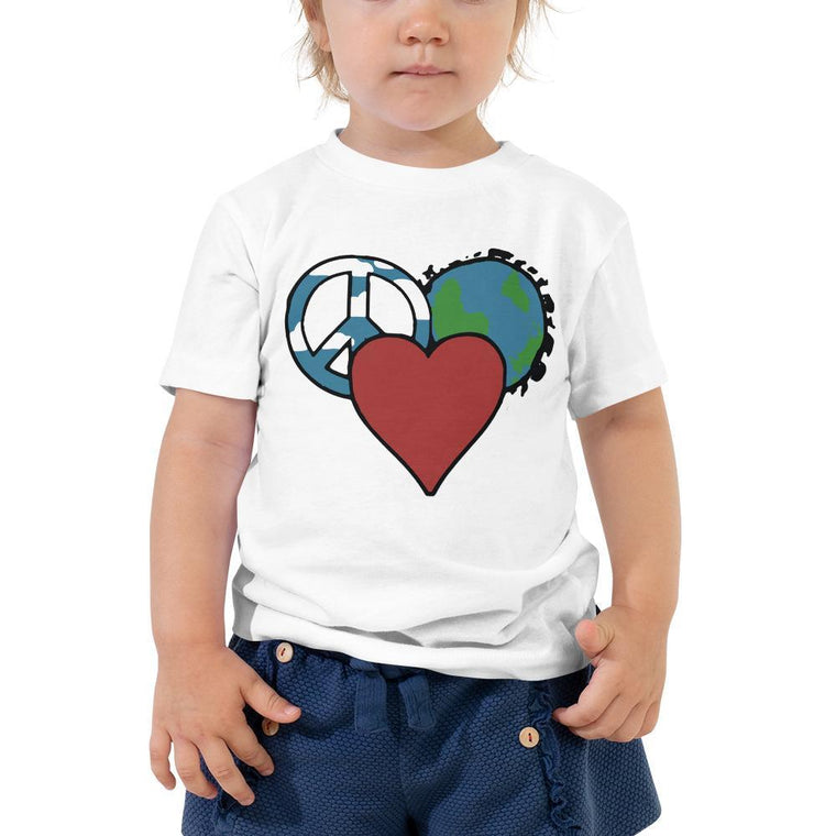 White / 2T Toddler Short Sleeve Tee