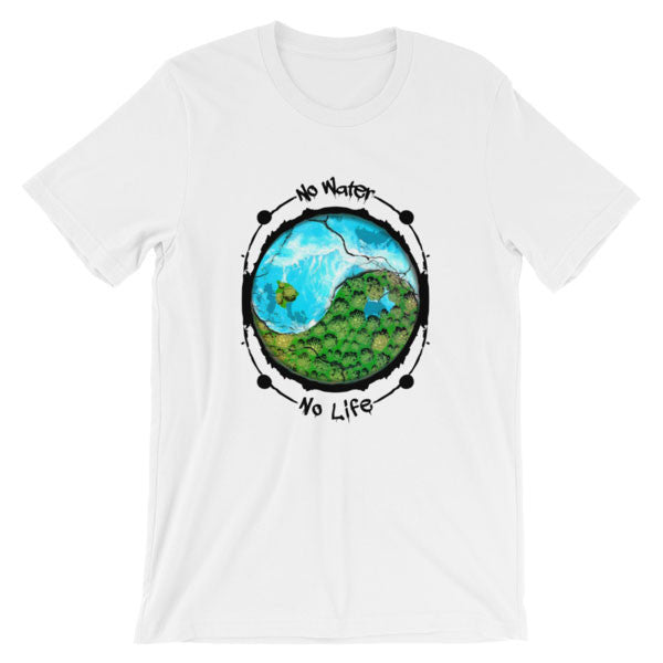 Unisex No Water, No Life Tee