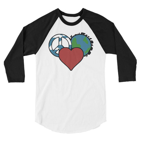 XS Peace Love Planet Raglan Tee