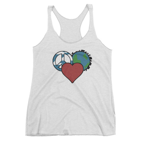 XS Peace Love Planet Womens Tank