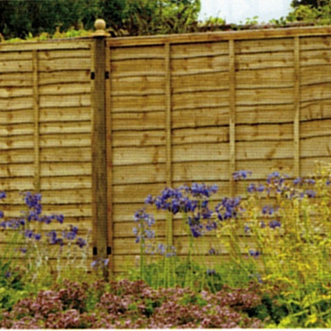 Heavy Duty Superior Lap Fence Panel 6x4 - LOCAL DELIVERY ONLY