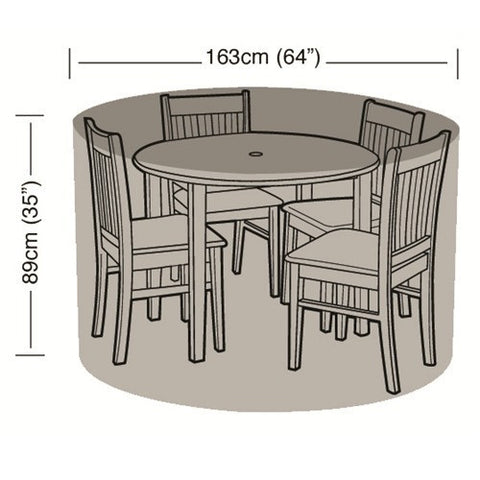 Worth 4 Seater Round Furniture Set Cover W1392