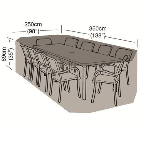 Worth 10 Seater Rectangular Furniture Set Cover W1424