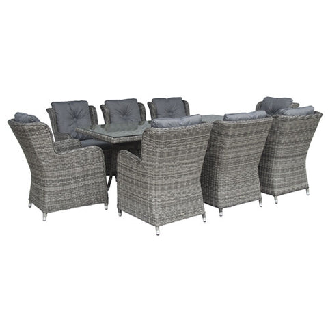 Glencrest Katie Blake Seville 8 Seat Rectangular Set - LOCAL DELIVERY ONLY