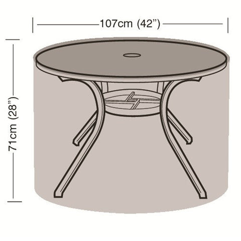 Worth 4 Seater Round Table Cover W1360