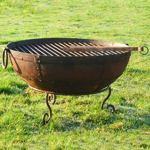 Kadai 70cm Recycled Firebowl with Low Stand