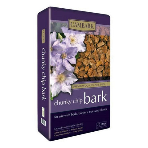 Cambark Chunky Chip Bark 70L - LOCAL DELIVERY ONLY