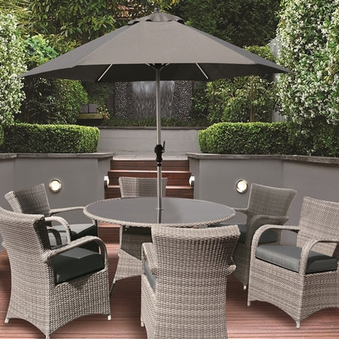 Glencrest Katie Blake Buckingham 6 Seat Round Set - LOCAL DELIVERY ONLY