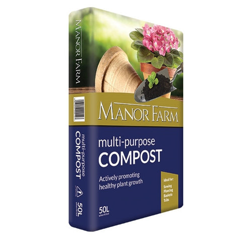 Durstan Manor Farm Multi Purpose Compost 50L - LOCAL DELIVERY ONLY
