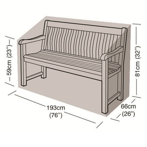 Worth 3-4 Seater Bench Cover W1496