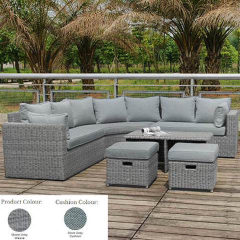 Glencrest Katie Blake Panama Corner Set in Grey/Grey