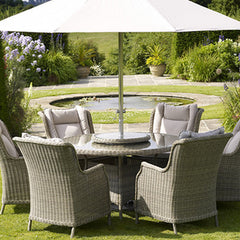 Bramblecrest 6 seater garden table and chairs