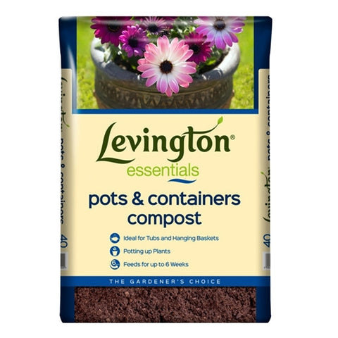 Levington Essentials Pots and Containers Compost 40L - LOCAL DELIVERY ONLY