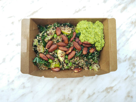 NEW SUMMER SPECIAL (available all week) -  Toasted almonds with green peas Quinoa salad