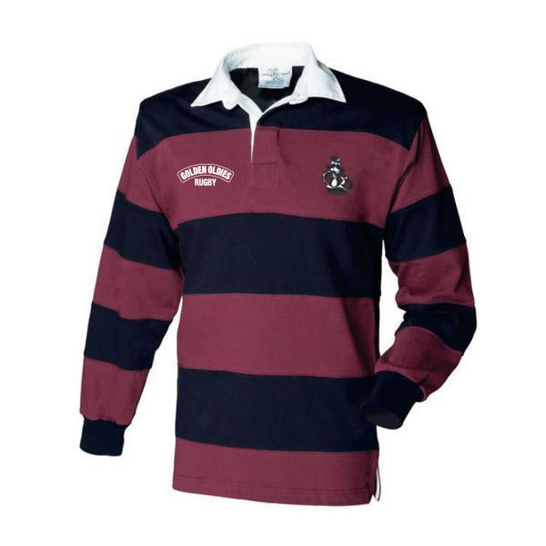 Classic Long Sleeved Rugby Jersey - Burgundy/Navy