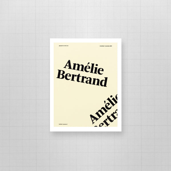 AMELIE BERTRAND par Please to meet you