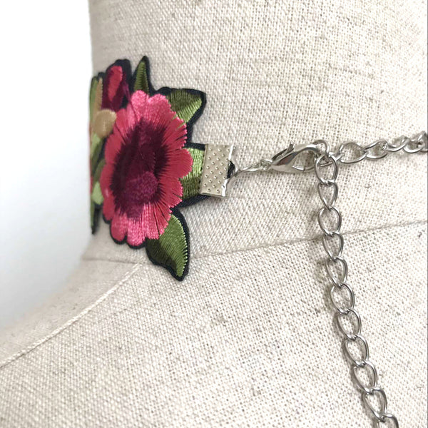 ROSES TREND N1491-008 Embroidery Choker