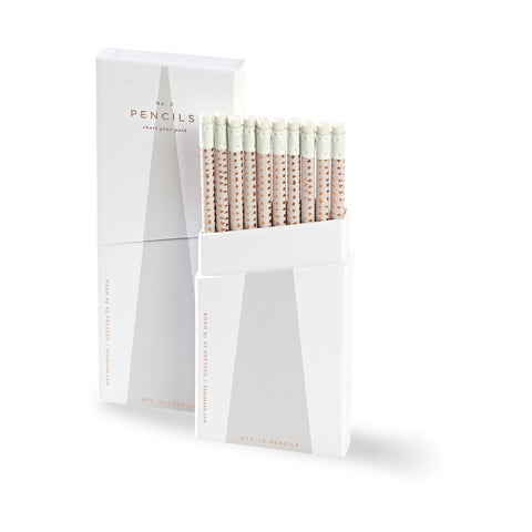 ROAM by 42 Pressed Set of 10 Pencils - Light Grey