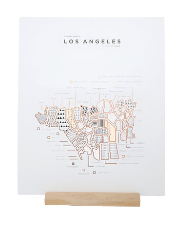 ROAM by 42 Pressed Map Prints - Los Angeles