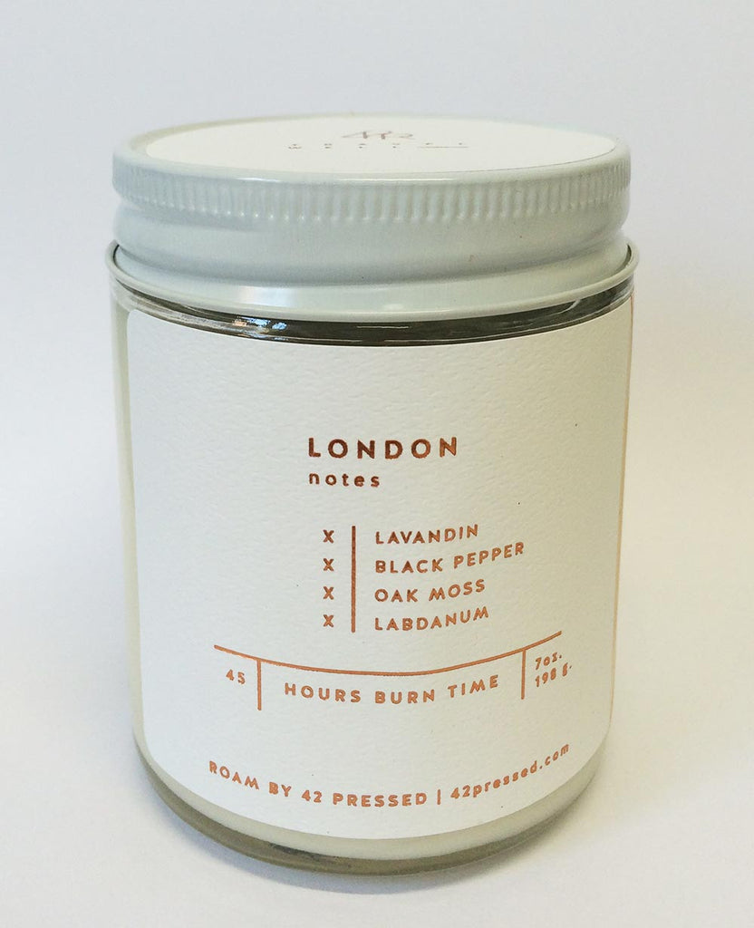 Roam By 42 Pressed New York Scented Candle Roam By 42