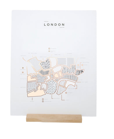 ROAM by 42 Pressed Map Prints - London