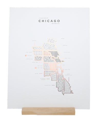 ROAM by 42 Pressed Map Prints - Chicago