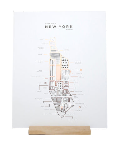 ROAM by 42 Pressed Map Prints - New York