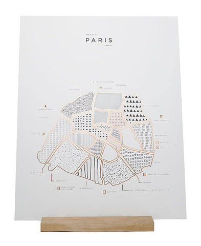 ROAM by 42 Pressed Map Prints - Paris
