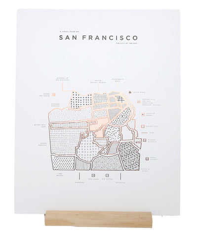 ROAM by 42 Pressed Map Prints - San Francisco