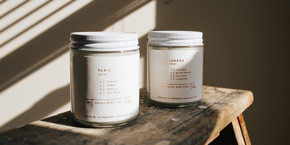 ROAM by 42 Pressed Scented Candle - Made using 100% Natural Soy Wax
