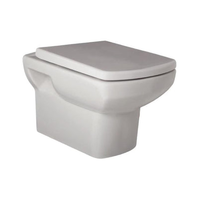 Aspect Wall Hung WC Pan, Cistern and Soft Close Toilet Seat - EverythingBathroom.co.uk
