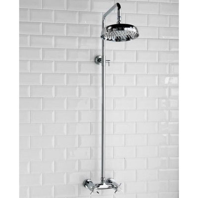 Cassellie Buxton Dual Exposed Mixer Shower with Fixed Head - EverythingBathroom.co.uk