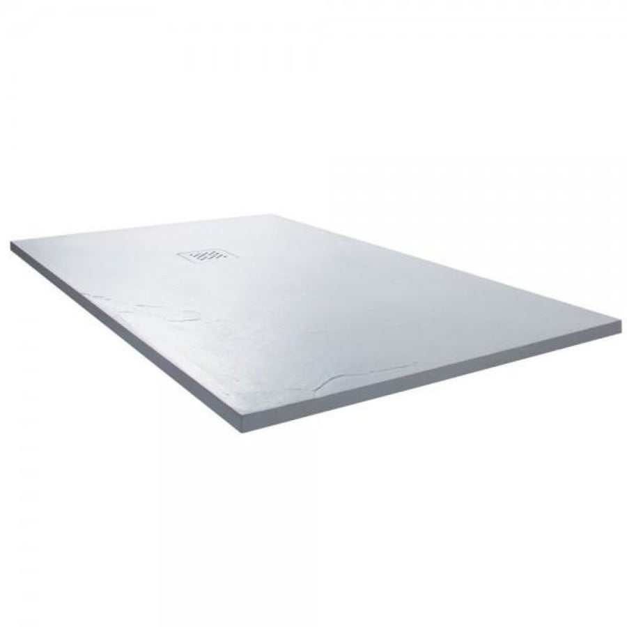 Cassellie Cass Stone - Rectangle Shower tray (Slate Effect)