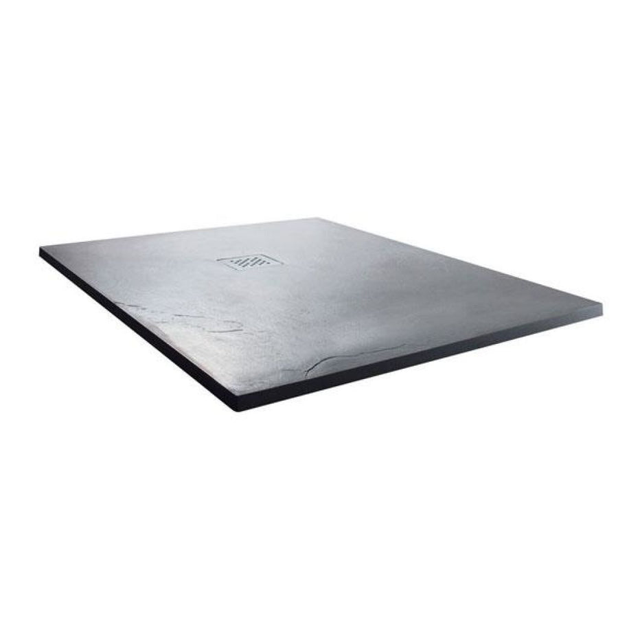 Cassellie  Cass Stone - Square Shower tray (Slate Effect)