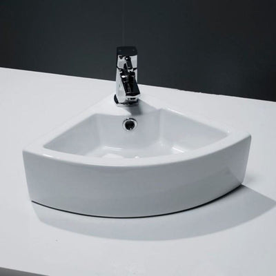 Cassellie Corner Cloakroom Basin 1TH 325 x 325mm - EverythingBathroom.co.uk