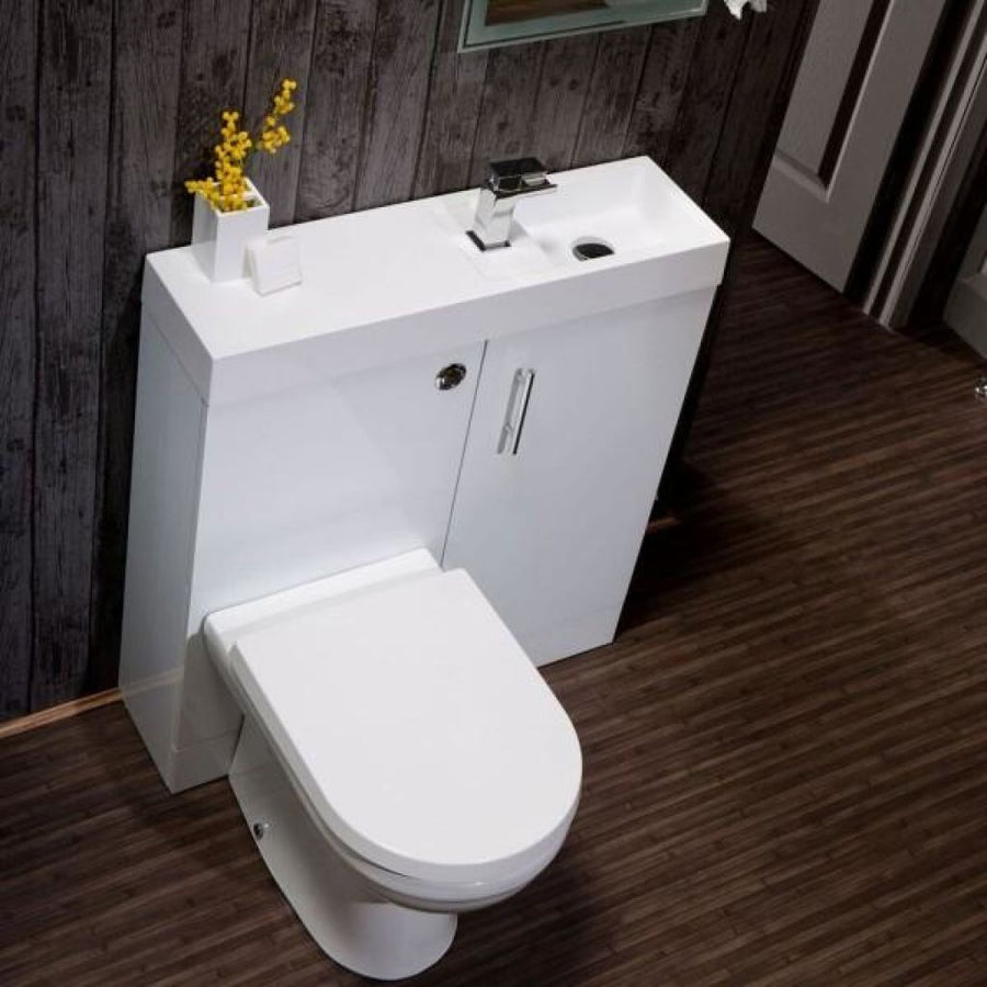 Cassellie Cube Plus  - WC Unit, Basin Unit & Basin