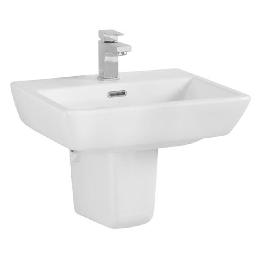 Cassellie Daisy Lou Basin - Semi Pedestal - 520mm Wide - 1 Tap Hole