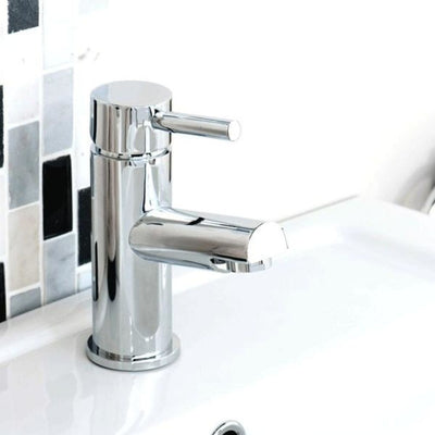 Cassellie Dalton Mono Basin Mixer Tap with Click Clack Waste - Chrome - EverythingBathroom.co.uk