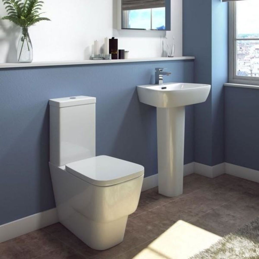 Cassellie Dearne Close Coupled Toilet - Soft Close Seat - White