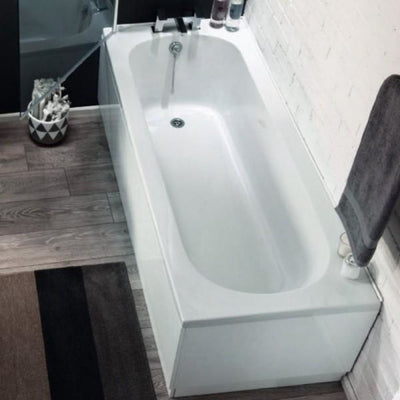 Cassellie Delph Single Ended Bath - 1700mm x 700mm - White - EverythingBathroom.co.uk