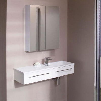 Cassellie Dias 2-Drawers Wall Hung Vanity Unit - 995mm Wide - EverythingBathroom.co.uk